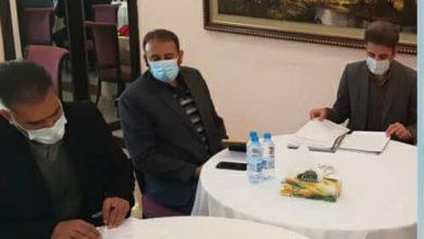 تصویر در برگزاری نشست هماهنگیِ پیش از بازی دو تیم «شهرداری بم» کرمان و «پارس»
